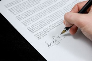Sign a commercial loan Document